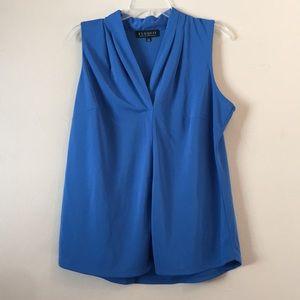 Eloquii Blue Sleeveless V-Neck Blouse 14/16